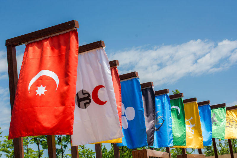 Flags of Turkic states in the history