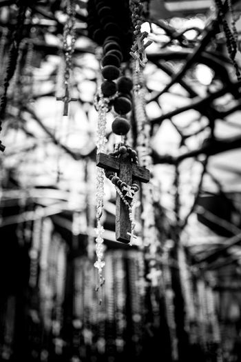 Rosary. Hanging No People Branch Close-up Outdoors Nature Bnw_collection Streetphotography Bnwphotography Bnw_life Bnw_friday_challenge Bnw_society Street Illuminated Indoors  Bnw_shot Bnw Photography Day Black And White Friday EyeEmNewHere
