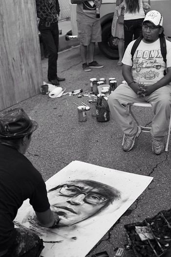 """Asphalt Canvas"" Streetphoto_bw Street Photography Street Art Streetphotography_bw Art, Drawing, Creativity Art Urbanphotography Views From The Sidewalk Artist Black And White"