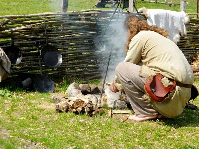Outdoors Taking Photos Hanging Out Openfire Viking Traditional Culture Traditional Clothing Jutland Denmark Showcase July Kitchen Utensils Fence Green