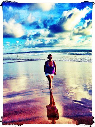 Being A Beach Bum Sea Kuta Kudeta INDONESIA Reflection Colors