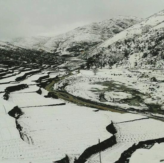 Agriculture Water Outdoors No People Mountain Rural Scene Nature Day Winter Cold Temperature Snow Flood