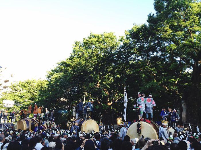 太鼓が集まり、さらなる饗宴 くらやみ祭り Festival