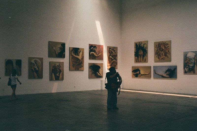 Full length of man standing in museum