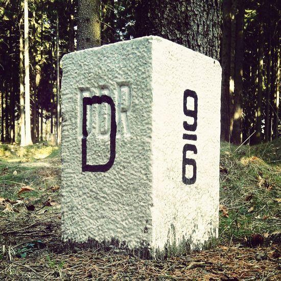 DDR Grenze Naturpark Zittauer Gebirge Forrest Boarder