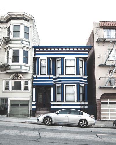 Blue Building Architecture Car Sanfrancisco Color City SF Photo