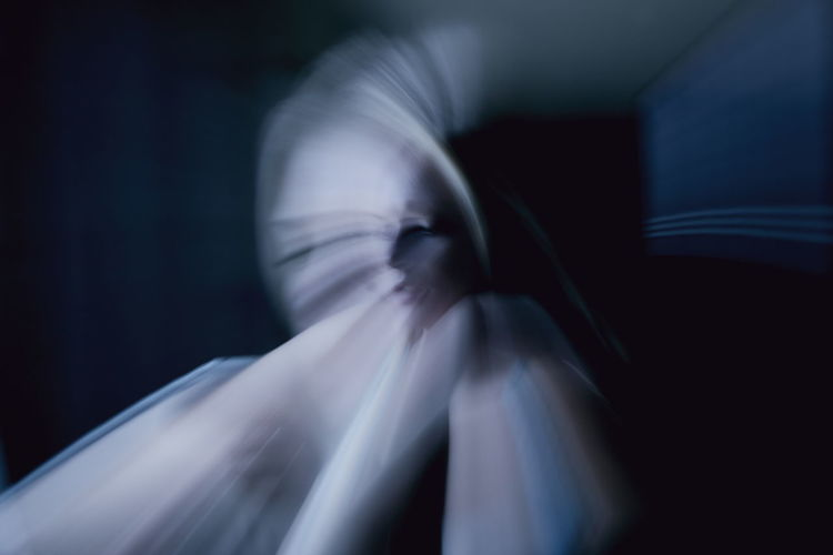 Digital Composite Image Of Blurred Woman