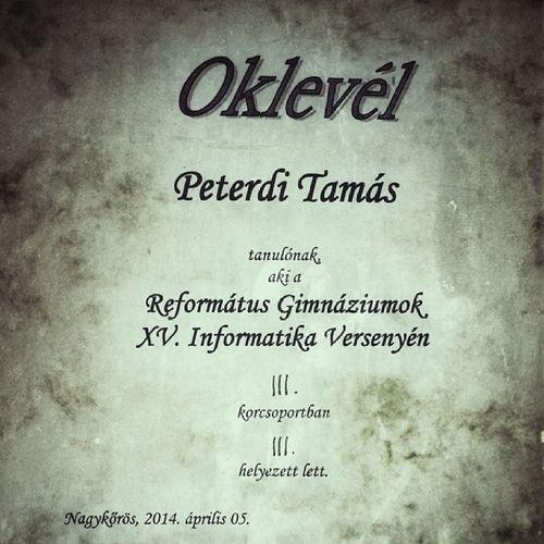 Gratulálok! Hungary Ighun Snapseed Ig Instamood Informatics Competition Nagykőrös