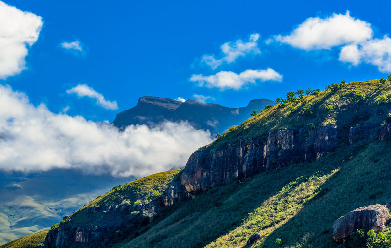 South africa drakensberge  green giants castle scenic landscape panorama