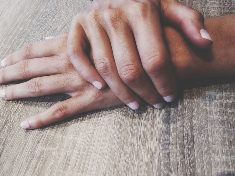 EyeEm Selects Human Body Part Human Hand Fingernail Close-up Adult Two People Women Lifestyles Indoors  Nail Polish Young Women Body Care Bonding Manicure Men Day Adults Only Hands Women Hand Female Hands Nailpolish Female Hands On Hands Waiting Inner Power This Is My Skin