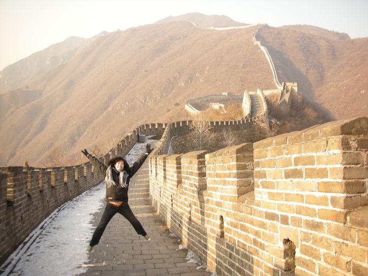 Adventure China Greatwall Jumpingpic Manmadestructures Newwondersoftheworld