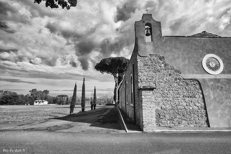 Canon 1300D Architecture Building Exterior Built Structure Church Cloud - Sky Cypress Day Fields And Sky No People Outdoors Religion Rome Rome, Italy Sacred Places Sky Tree