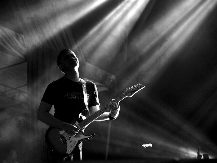 ...shredder guitarist Capture The Moment Open Edit Black And White Blackandwhite Photography Concert Photography Concert Experimenting Photooftheday Andra And The Backbone Light And Shadow