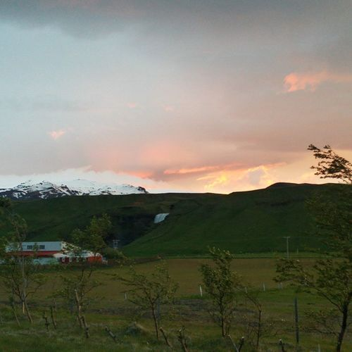 Iceland Skogar Green Nature Beautiful Awesome Sky Skyporn Clouds Eijafjällajökull