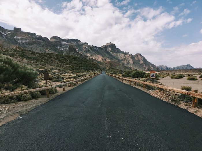 Mountain Road The Way Forward Beauty In Nature Scenics Day Outdoors Landscape Tranquility Tranquil Scene No People Tenerife Canaries Canary Islands