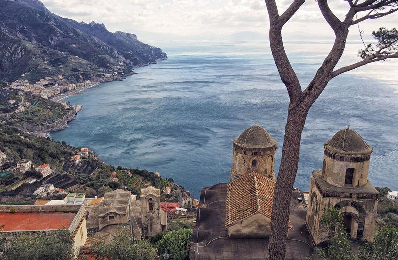 Veduta da Villa Rufolo Sea Architecture Building Exterior History Beauty In Nature Outdoors Travel Destinations Scenics - Nature Amalfi Coast Maiori, Minori Ravello