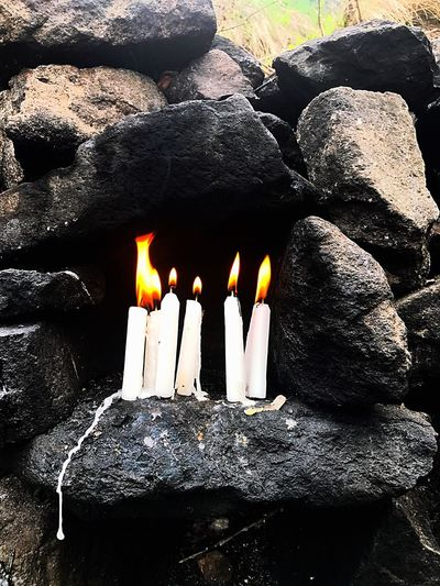 Kutsaltoprak Ziyaret Mum Dilek Dua Huzur Wishes Candlelight Dersim Duzgunbaba Flame Burning Heat - Temperature Candle No People Outdoors Day