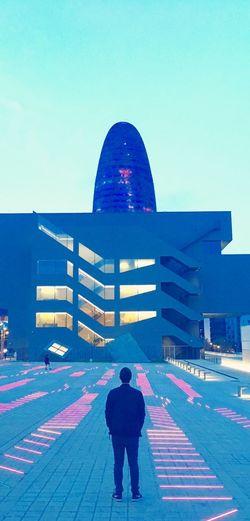 Envision The Future Barcelona Torreagbar Glòries Museu Del Disseny De Barcelona Fluorescent Colors Blue