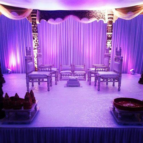 Mandap Wood Carving Byhand Asian  Wedding Color Pink White Lights Swarg .com Uk Events Happydays .