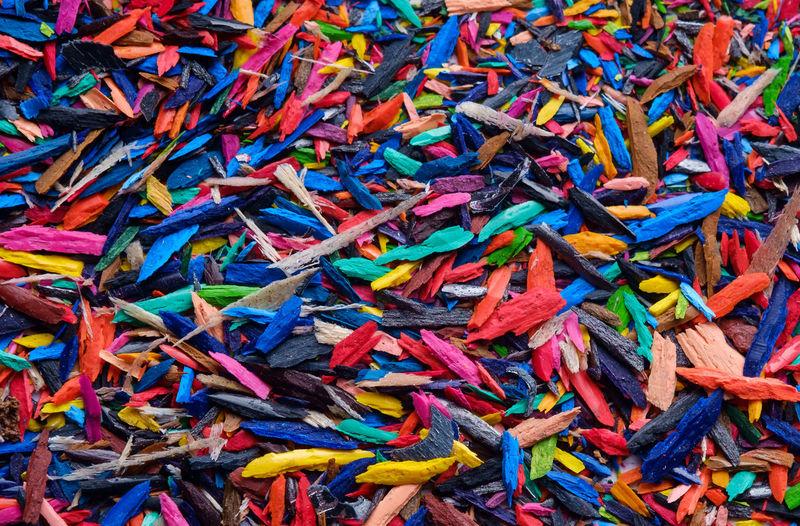 Full Frame Shot Of Colorful Pencil Shavings