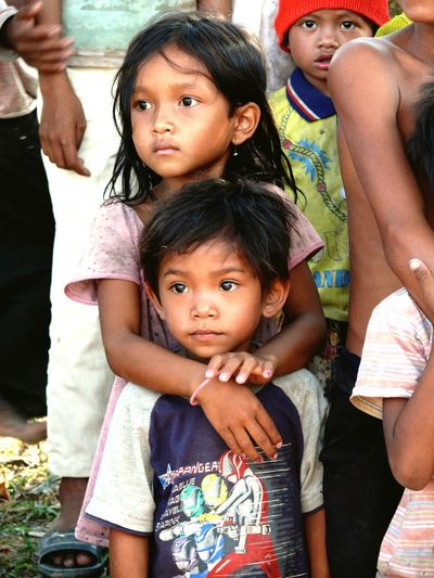 The Human Condition Kids Care Protection Sister & Brother We Are Family Cambodia