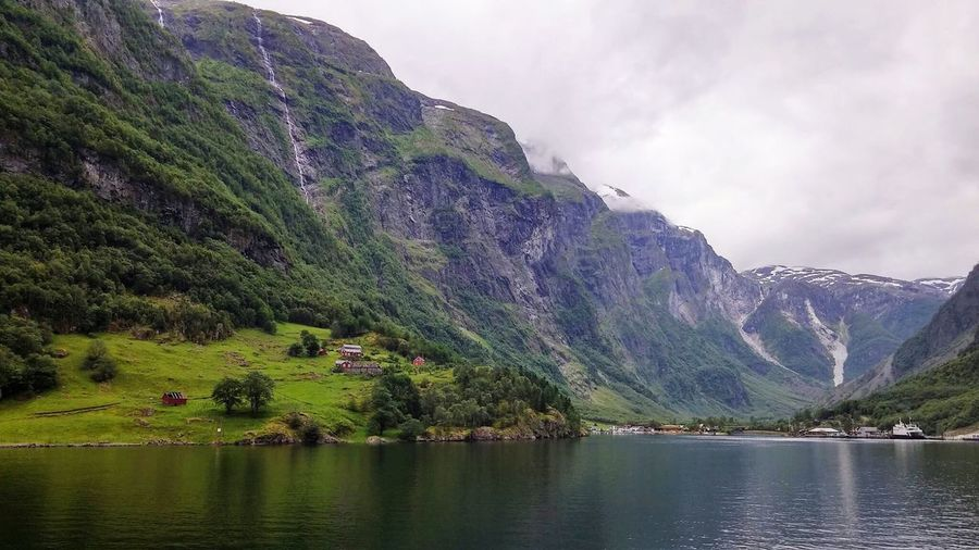 Mountain Water Nature Beauty In Nature Waterfront Scenics No People Mountain Range Landscape Fjord Norway Sea On The Road Traveling Green EyeEmNewHere