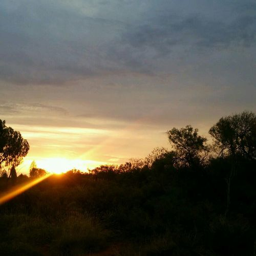 Sunset Outback Ayers Rock World Heritage
