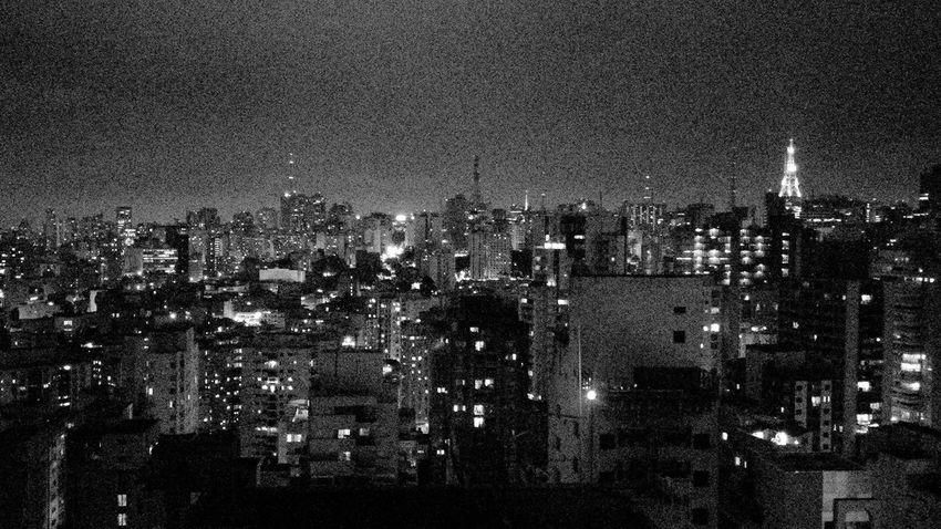 Paulista Avenue Avenida Avenida Paulista Noise Nocturne BP Black And White Third World Cute Polution View Of The City Movement Developing Country Gray Background Gray City Visual Pollution Outdoors No People Aerial View Illuminated Architecture Cityscape Building Exterior Water Skyscraper Night City Nature Sky