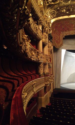 Eerie. Architecture Gold History Indoors  Interior No People Operahouse Opéra Ornate Palais Garnier Paris Purist In Photography Purist No Edit No Filter Red Theatre
