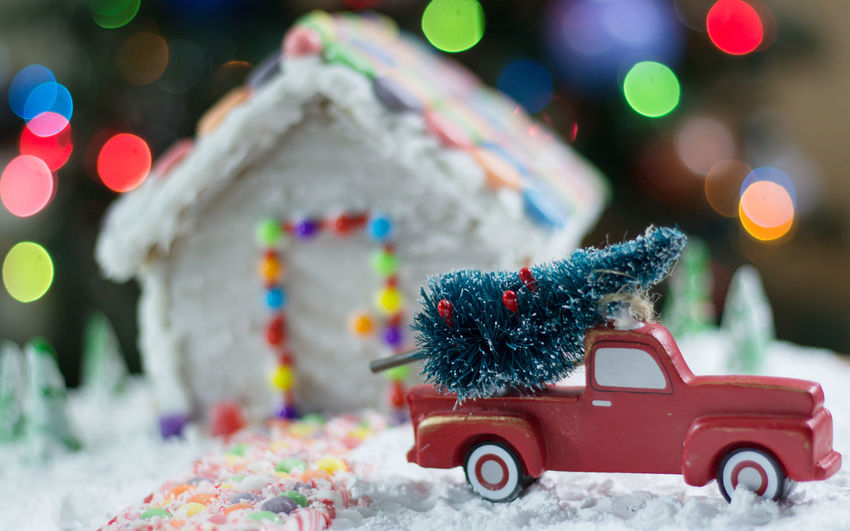 Gingerbread house Truck Gingerbreadhouse Gingerbread House Red Truck Background Christmas Bokeh Night Before Christmas Holidays Candy Candycane  Candy Cane Bokeh Treat Snack Food EyeEm Selects Christmas Background Holiday POV Christmas Decoration Christmas Decorations Car Christmas Christmas Tree Red Christmas Decoration Winter Celebration Christmas Ornament Snow No People