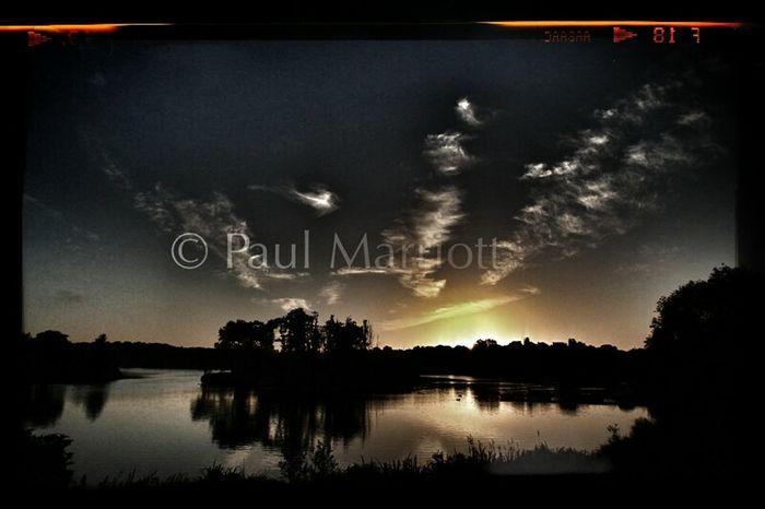 Early morning bike ride view Sunrise ferrymeadows Peterborough