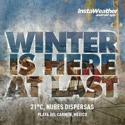 Only quintanarroenses will understand. In fact it feels like 15C. Omgmexico2015