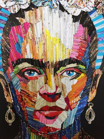 Be. Ready. Multi Colored Art And Craft Ornate Arts Culture And Entertainment No People Close-up Day Outdoors Art Is Everywhere Paper Frida Khalo