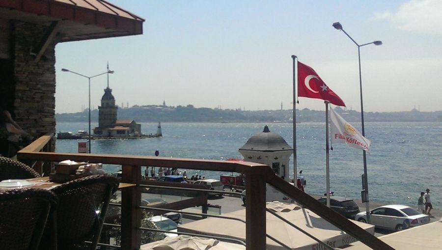 Kiz Kulesi Bayrak Deniz Istanbul #bogaz