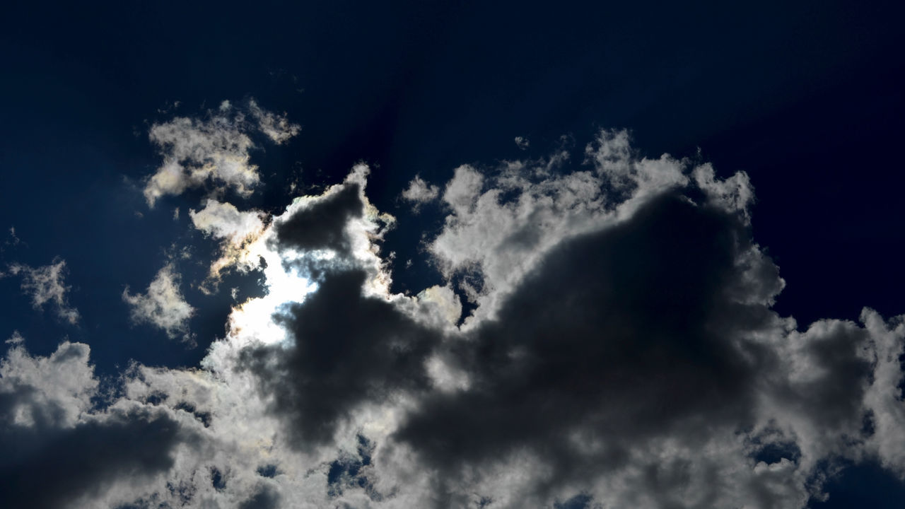 sky, cloud - sky, low angle view, beauty in nature, nature, sky only, tranquility, cloudscape, scenics, majestic, blue, tranquil scene, idyllic, backgrounds, no people, outdoors, abstract, day, awe