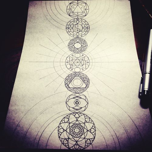 Chakra  YohkoAmaterraArt Art Mandala Mandalas 曼荼羅 マンダラ My Art Work Create Drawing