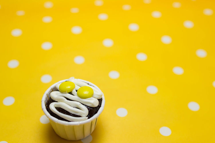 Cupcakes Cupcakes Close-up Colored Background Food Food And Drink High Angle View Indoors  Raw Food Still Life Sweet Sweet Food Temptation Yellow