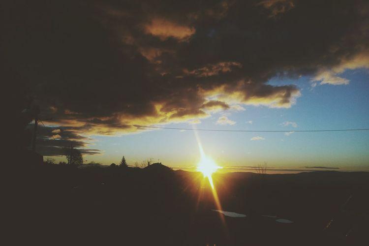 Sun Sunrise Clouds And Sky Simplicity