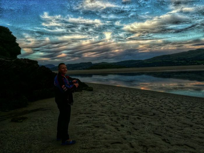 Check This Out That's Me Enjoying Life Looking Up Portmeiron Village Sunset And Clouds  Wierd Sky