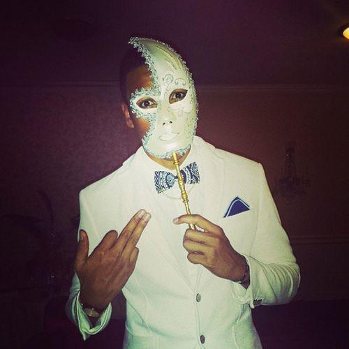 Mums 40th Birthday Mascarad Party Goodnight White blazer bowtie mask moon instafashion trendy ratchetGuy lll