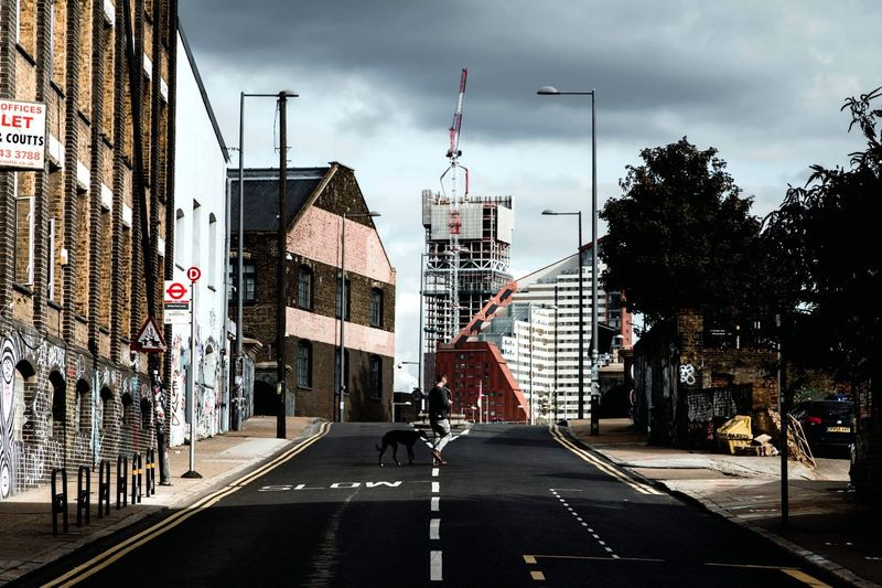 Postcode Postcards Architecture Built Structure Building Exterior Sky City Road Transportation Outdoors Day The Way Forward Cloud - Sky Real People London