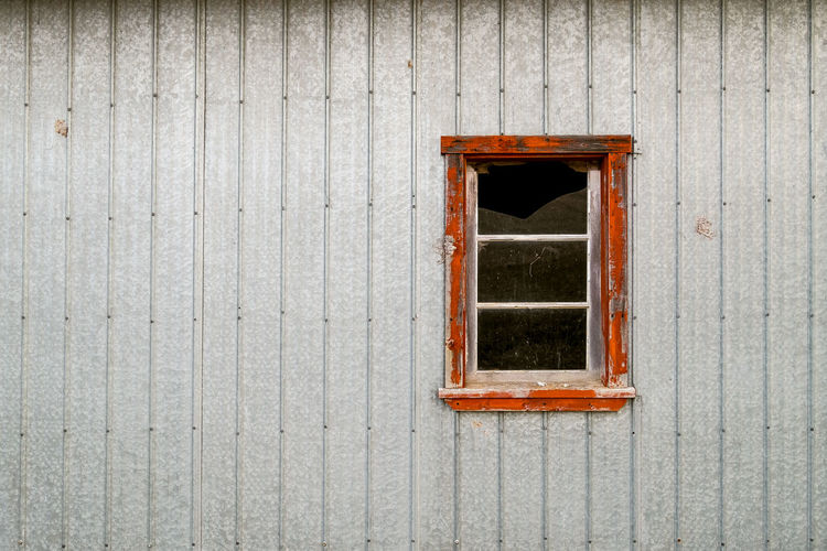 Architecture Broken Glass Building Exterior Built Structure Orange Color Orange Window Outdoors Window Frame Wood - Material