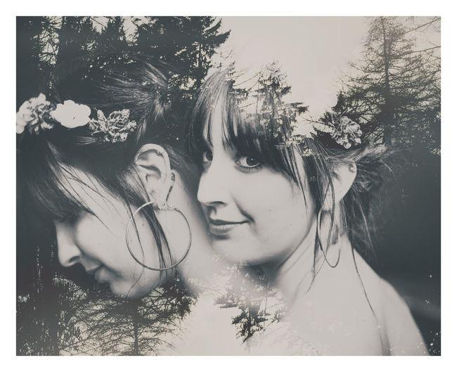 #blackandwhite #doubleexposure #doubletap #effect #girl #photography #portrait #trees