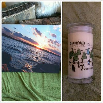 I have the best Secret Santas everrrrrrr. @kaethebrandt got me a canvas of one of my Table Rock sunsets (sneaky girl...), and @ashmpartridge89 got me a Diamond candle, which not only smells great, but has a beautiful ring inside I must find! <3 these girls. Secretsanta Christmas
