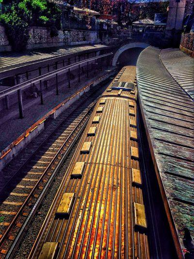 Monastiraki Train Station Isap Train Sunny Day