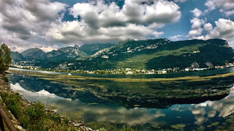 Cloudy sky over lake Garlate. Mountain Cloud - Sky Nature Outdoors Water Lake Mirror Tranquil Scene Beauty In Nature No People Scenics Landscape EyeEm Nature Lover Exeptional Photographs From My Point Of View in Brianza