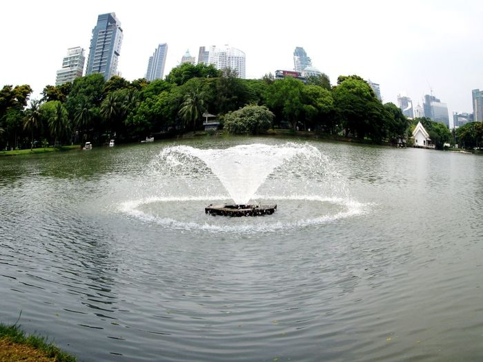 Goodmorning Bangkok, EyeEm Thailand Lumphini Park Veiw Enjoying Life Relaxing Taking Photos Silhouettes Of A City .