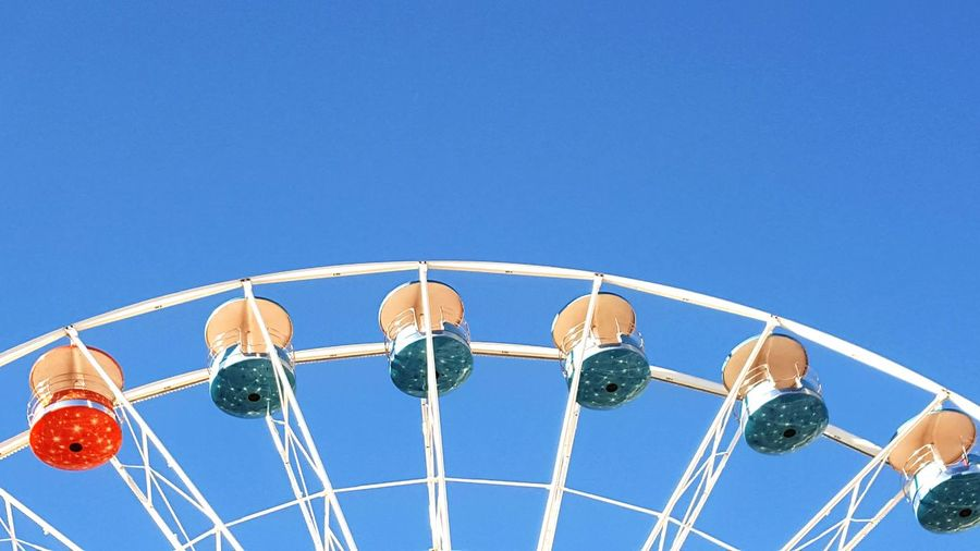 Blue Clear Sky Sky Sunny Sport No People Amusement Park Ride Amusement Park Close-up Day Outdoors Golf Club La Rochelle, France Big Wheel Fresh On Market 2016