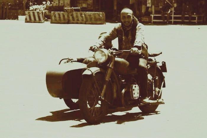 Me Enjoying Life Hello World Classic Motorcycles Bike Tour Lombok-Indonesia Bikers Brotherhood Mc