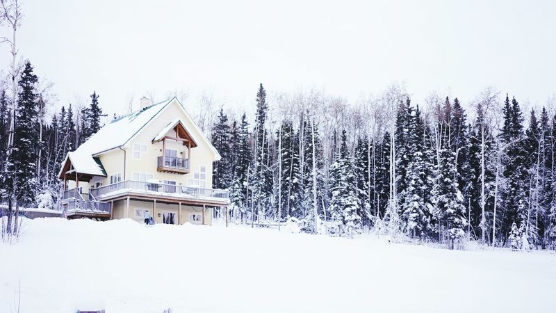 Alaska Vacation Winter Fairbanks Vacation House Snow Christmas Time Cold Freezing Freezing Cold Snow Sports